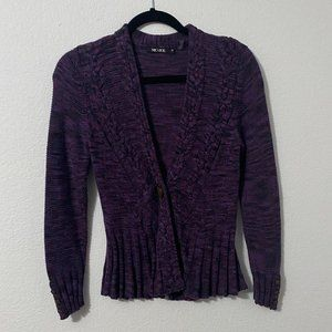 NIC+ZOE Purple Long Sleeve Cardigan